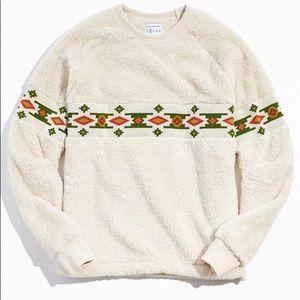 UO Cozy Fleece Southwestern Pullover Sweatshirt